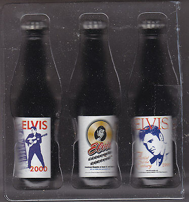 Elvis Presley Pepsi:cola Mini Bottles Three Different  Over 25 Years Old