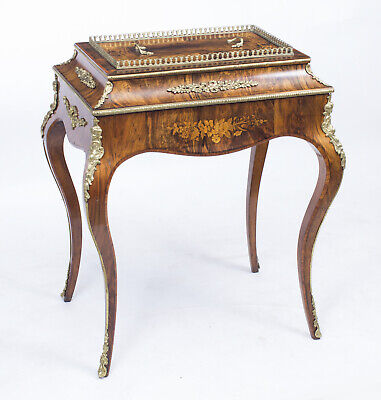 Antique French Louis Revival Burr Walnut  Jardiniere c.1870
