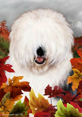 Garden Indoor/Outdoor Fall Flag - Old English Sheepdog 131291
