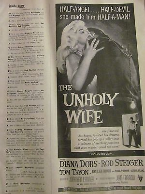 The Unholy Wife, Diana Dors, Rod Steiger, Vintage Promotional Ad