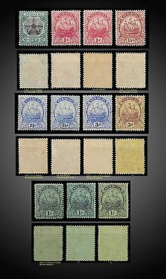 1906 To 1934  Bermuda Smal Lot Dry Dock  Caravel Mint Hinged - To Never Hinged