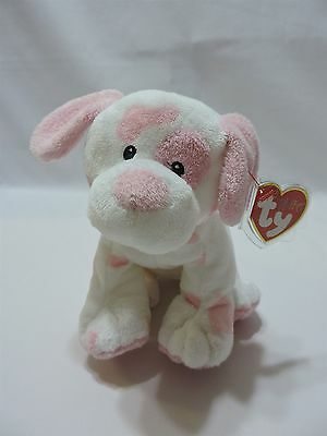 Ty Pluffies Baby Pups Pink Puppy Dog Plush TyLux Soft Sewn Eyes 2007 MWMT