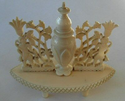 Rare Victorian Antique Perfume Bottle & Stand