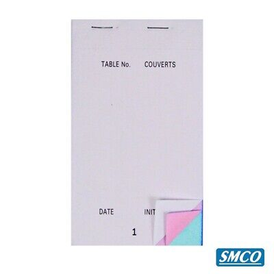 Restaurant Bar Food Service LARGE ORDER PAD TP200 3 PLY TRIPLICATE Non Carbon