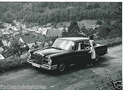Mercedes Benz 220 S 1960's Original Photograph Girl in Period Costume Excellent