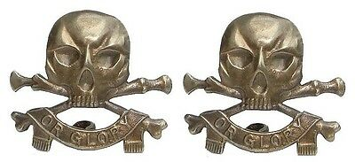 Ww1 The 17Th Lancers Collar Badges Pair Solid Silver