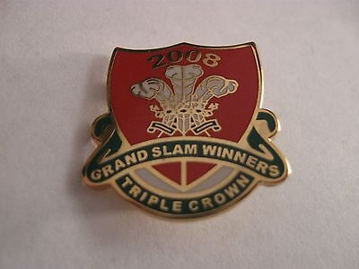 Rare Old 2008 Wales Rugby Football Union (Cs2) Green Enamel Brooch Pin Badge