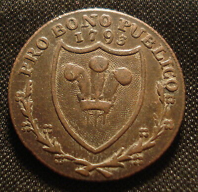 Rare South Wales 1793 Farthing Pro Bono Publico Scarce In This Condition