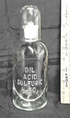 DIL ACID SULFURIC 500mL HUGE chemical scientific apothecary pharmacy lab drug A1