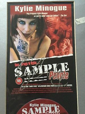 Kylie Minogue Signed & Mounted Limited Edition PWL Kylie Sample People DVD Rare