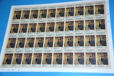 Nicaragua Parliament by Hickel, Sc 979 MNH Complete Sheet of 40 qq