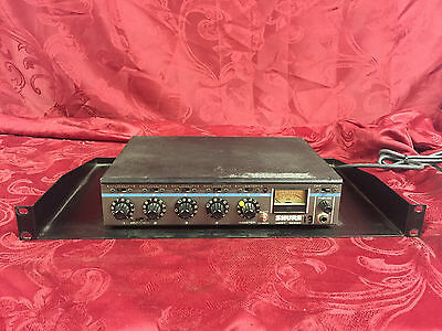 vintage Shure M267 rack-mount analog 4 channel audio mixer