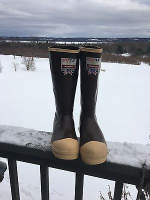 "MADE USA Xtratuf 15"" Neoprene Rubber Boots SIZE 5 right, 6 left INSULATED NEW !"