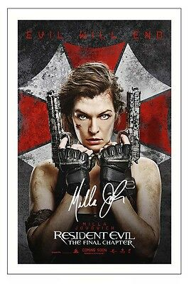 Milla Jovovich Resident Evil 7 The Final Chapter Signed Photo Print Autograph
