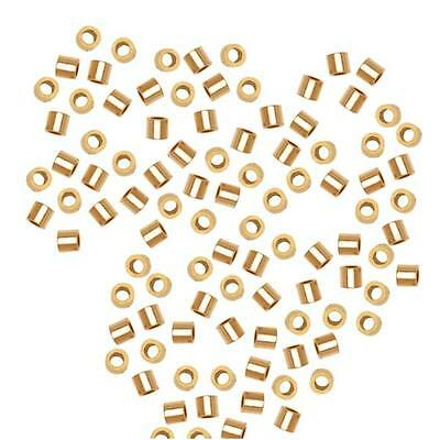 14K Gold Filled Micro Crimp Beads 1 X 1mm (50)