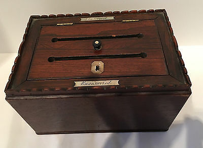 Antique English Answered Unanswered Box, circa 1830