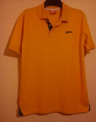 Slazenger Orange Polo Golf Shirt Size M Medium Perfect Condition Sports Top