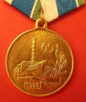 Russian CHERNOBYL VETERANS UNION Medal 1986-2011 Soviet Nuclear Station Cleanup
