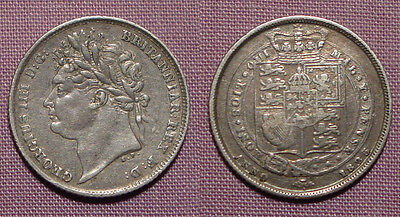 1825 KING GEORGE IV SILVER SIXPENCE - Nice Grade