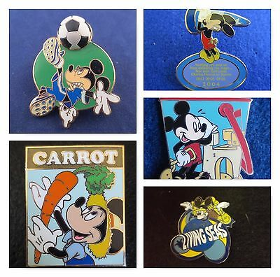 Lot of 5 Disney Mickey Mouse Trading Pins Different Misc Mix Free D Pin on Pin