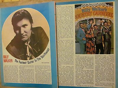 Billy Walker, Two Page Vintage Clipping