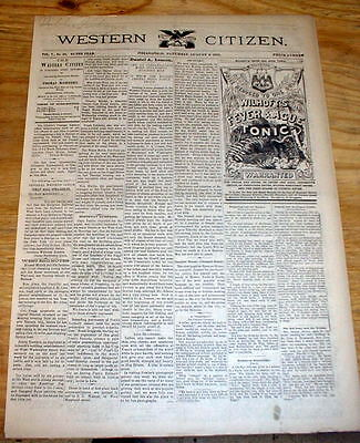 1881 newspaper CAPTURE of  Texas Outlaw SAM BASS GANG member in INDIAN TERRITORY