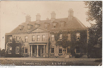 Postcard Clipsham Hall near Oakham Rutland posted 1905 RP by A S