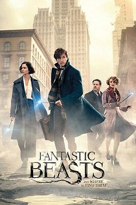 FANTASTIC BEASTS AND WHERE TO FIND THEM ~ CITY~ 24x36 MOVIE POSTER ~ POTTER!