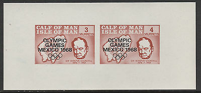 Calf of Man (1441) - 1968 Olympic Games & Churchill m/sheet unmounted mint