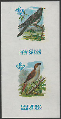 Calf of Man (1466) - 1973 BIRDS 1st Issue imperf m/sheet unmounted mint