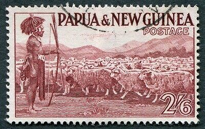 PAPUA NEW GUINEA 1952-8 2s6d brown-purple SG13 used NG Native shepherd a #W9