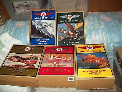Wings of Texaco Die-Cast Airplane Banks/Lot of 5 - #2 thru #6/New in Boxes