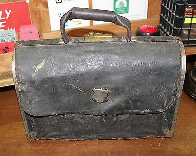 Antique 19th Century Leather & Wood Musical Instrument Case CG Conn