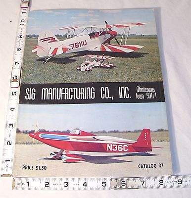 Sig Manufacturing Radio Controlled Airplanes Model Kit Catalog 1974