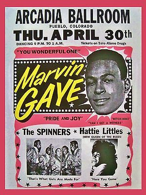 "Marvin Gaye Arcadia 16"" x 12"" Photo Repro Concert Poster"