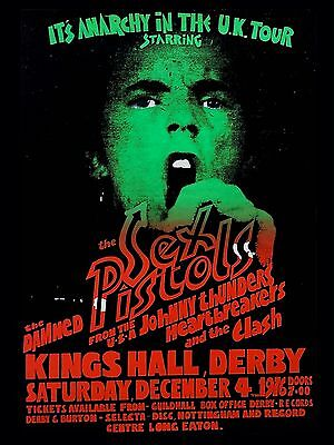 """Sex Pistols / Clash / Damned Derby 16"""" x 12"""" Photo Repro Concert Poster"""