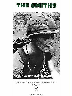 """The Smiths MEAT IS MURDER 16"""" x 12"""" Photo Repro Promo  Poster"""