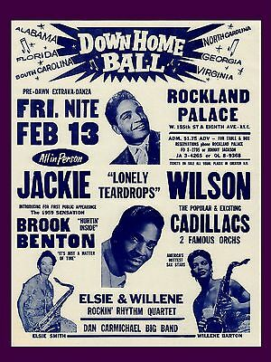 "Jackie Wilson New York 16"" x 12"" Photo Repro Concert Poster"