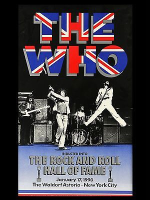 """The Who Hall of Fame 1990 16"""" x 12"""" Photo Repro Concert Poster"""
