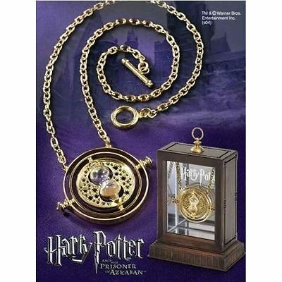 Official Hermione Granger's 24K Plated Time Turner - Necklace Box