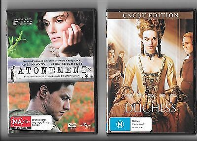 4 x Keira Knightly DVDs, Atonement, Last Night, The Duchess, London Boulevard