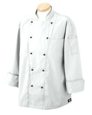 Executive Chef Coat White Jacket C070302 Dickies Professional 36 New