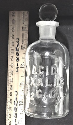 ACID OXALIC 125mL rarity laboratory bottle apothecary reagent science drug store