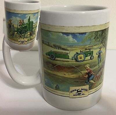 John Deere Moline Illinois Country Scene Coffee Cup Mug