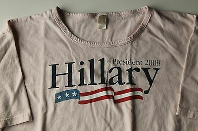 Pink 2008 Hillary For President Campaign T Shirt Size L