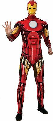 BRAND NEW Licensed Marvel DELUXE ADULT IRON MAN COSTUME Sizes STD, XL