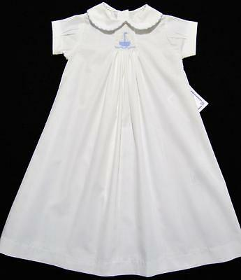 The Bailey Boys Newborn Boys Smocked White Daygown W/embroidered Sailboat ~Nwt's