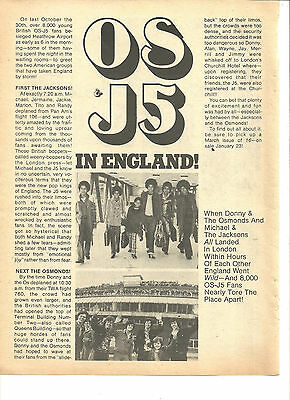 Donny Osmond, Osmond Brothers, Full Page Vintage Clipping, Jackson Five