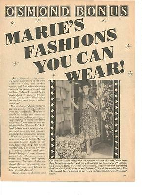 Marie Osmond, Full Page Vintage Clipping Ad, Osmonds