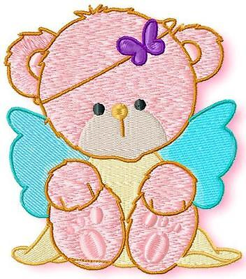 Teddy Bear Angels 10 Machine Embroidery Designs Cd 2 Sizes Included